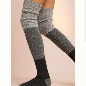 Anthropologie Cable Knit Thigh Highs